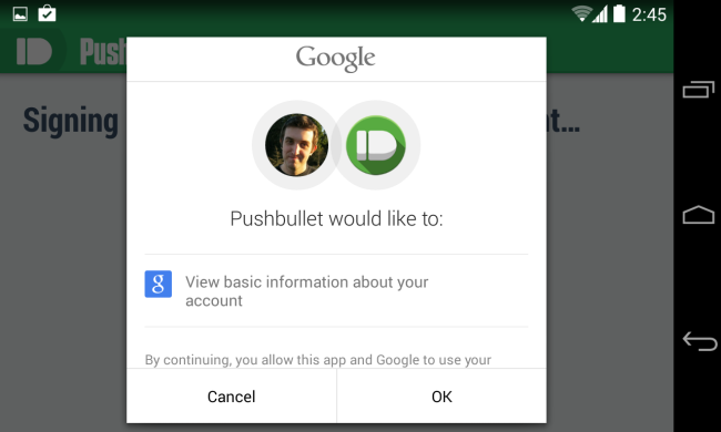sign-into-pushbullet-on-android