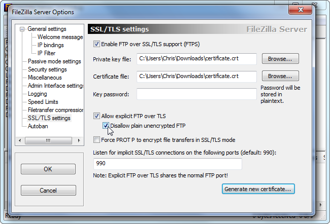 filezilla-server-enable-secure-ftp