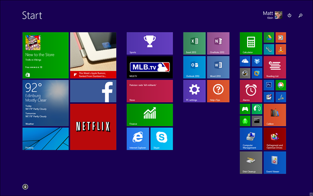 Windows 81 Personalizing Your Start Screen