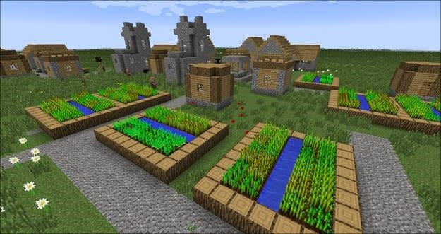 farm crops need very little to grow starting with a seed stock seeds carrots or potatoes they need to be planted in a dirt block within four squares