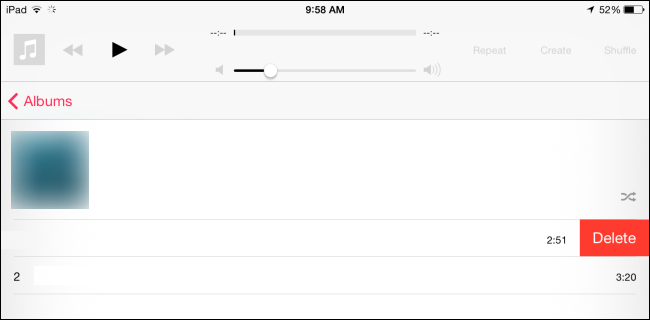 delete song in music app to free up space on ipad or phone