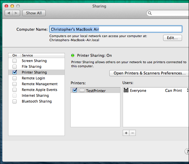 How to set up printing from Windows VM using Mac OS compatible printers or Apple Bonjour