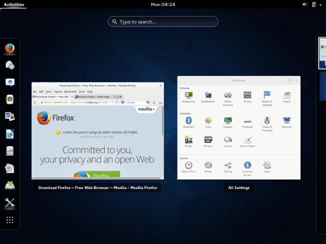 fedora-gnome-3-desktop