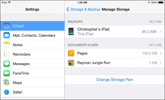 Icloud Manage Storage Ios 7