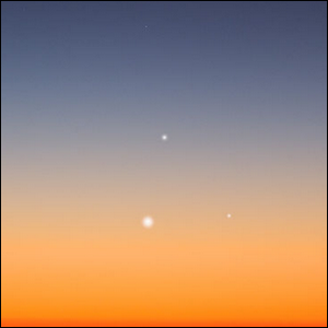 A depiction of the rare astronomical event.
