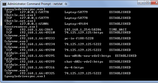 netstat-b-on-windows