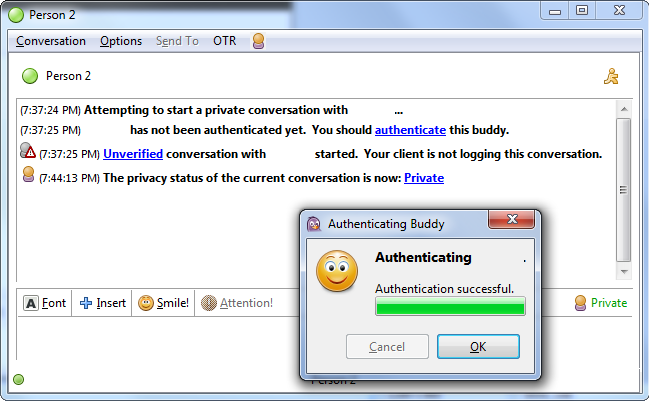 pidgin-otr-authentication-successful