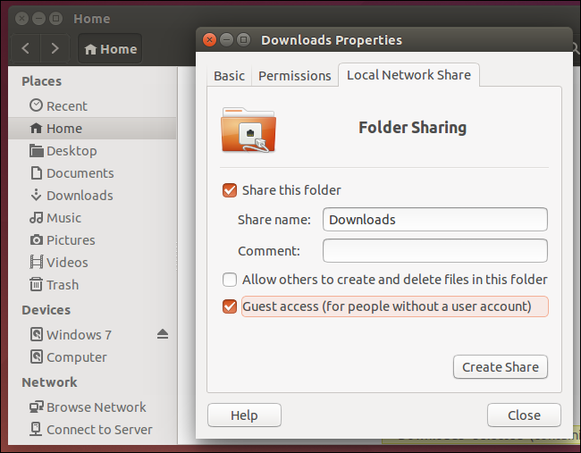 share-folder-from-ubuntu-linux-with-windows-pc-over-local-network