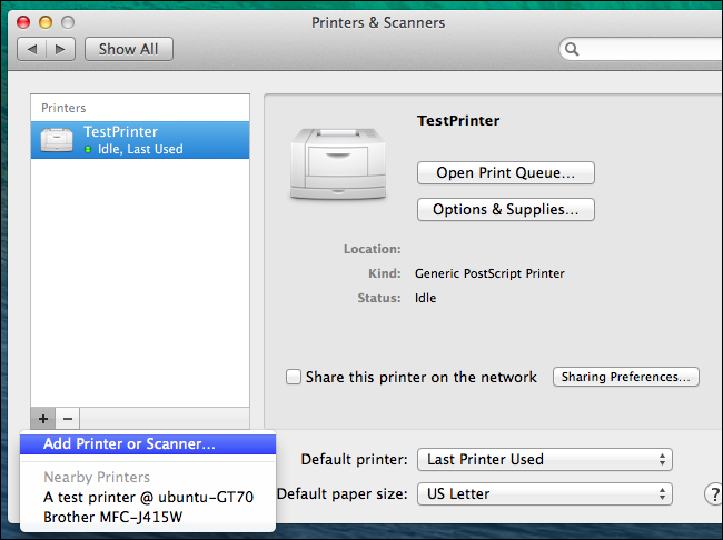 how to connect macbook to samsung wireless printer