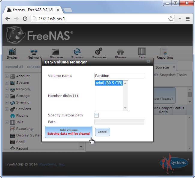 freenas-create-partition
