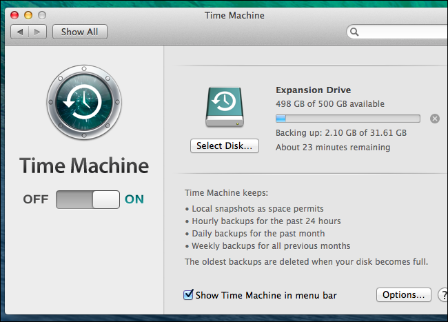 does time machine backup everything