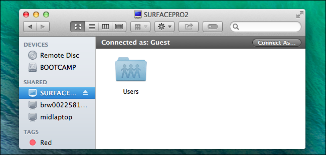 how to access shared folder on mac from windows 7