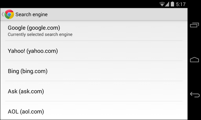 change-deafult-search-engine-in-chrome-for-android