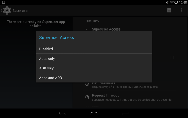 cyanogenmod-superuser-root-access-settings
