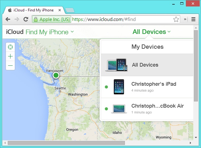 find my iphone ipad and mac devices on icloud website