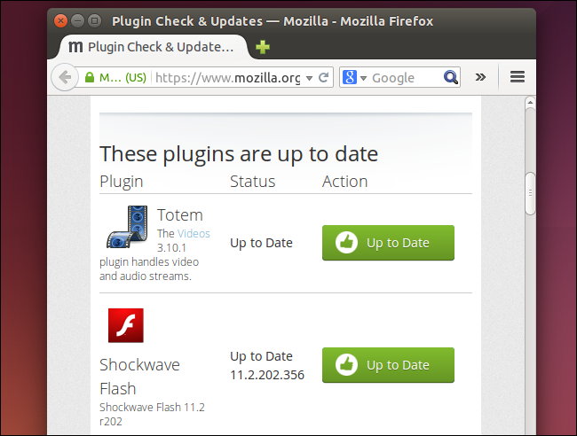 mozilla firefox flash player plugin