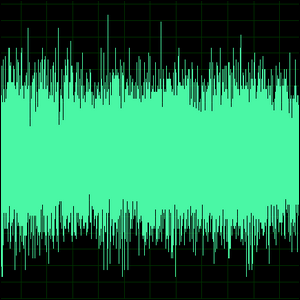 Sample of a sound wave.