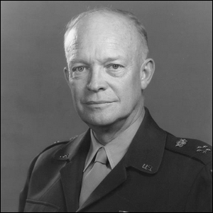 Official portrait of five-star general and U.S. President Dwight D. Eisenhower