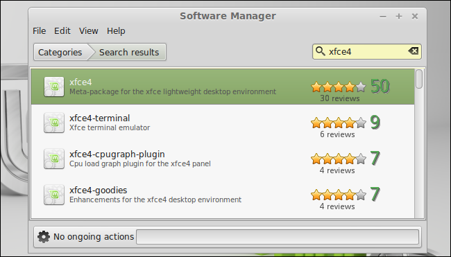install-desktop-environment-from-linux-mint-software-manager