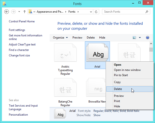 delete-font-on-windows-8.1