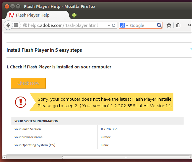your-computer-does-not-have-the-latest-version-of-flash-firefox-on-linux