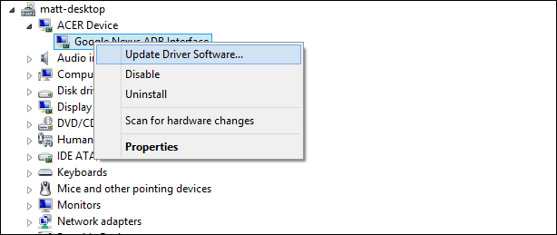 Acer MTP Device Driver Download