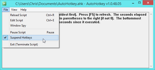 autohotkey-suspend-hotkeys