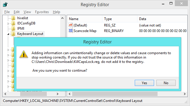 Remapping a keyboard key in windows 8.1 - Super User