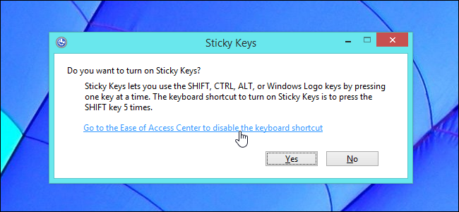 disable sticky keys gpo