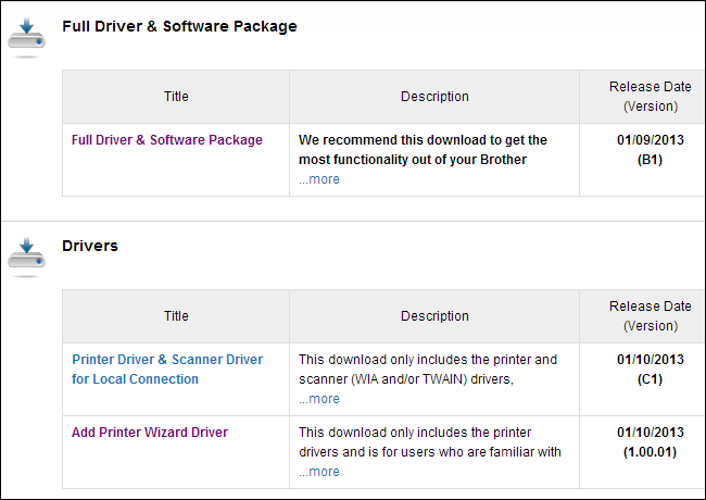 download-minimal-driver-package