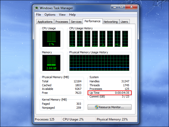 find-up-time-on-windows-7