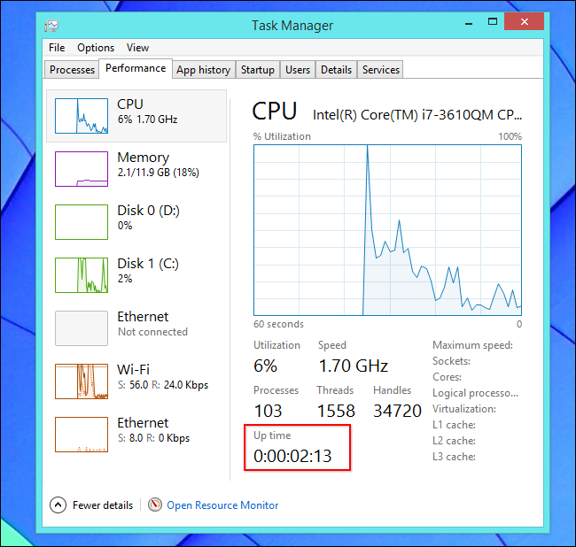 find-uptime-on-windows-8