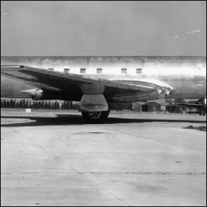 An example of early square jetliner windows.