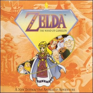 Cover of the game Zelda: The Wand of Gamelon