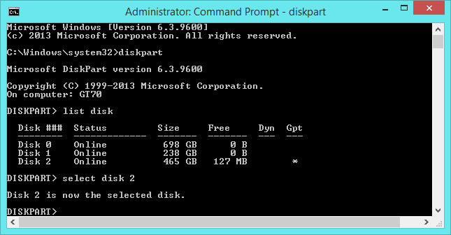 select-disk-in-dispart