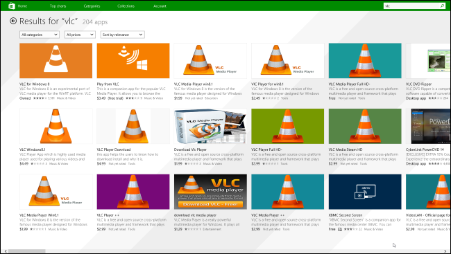 vlc-windows-store-scams
