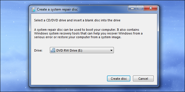 windows 7 system repair disk free