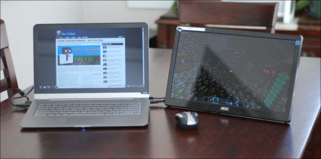 Portable Laptop Screen : How to add an extra monitor your laptop