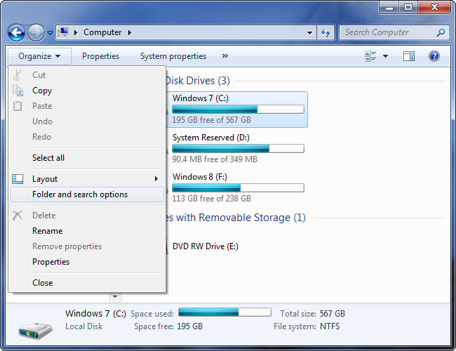 open-folder-options-dialog-on-windows-7
