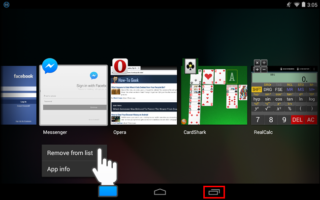 How to Remove an App From the Recent Apps List in Android