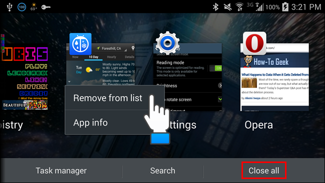 how to delete some apps from android
