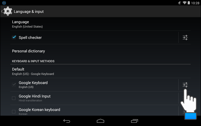 Image result for google keyboard settings