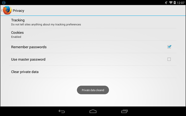 how to clear your history on android