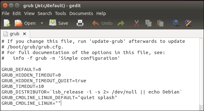 How to Configure the GRUB2 Boot Loader's Settings