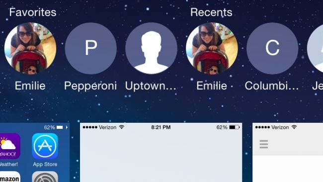 how to delete recent contacts in messages iphone