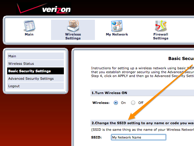 How to Change the Wi-Fi Network Name (SSID) on Your Verizon