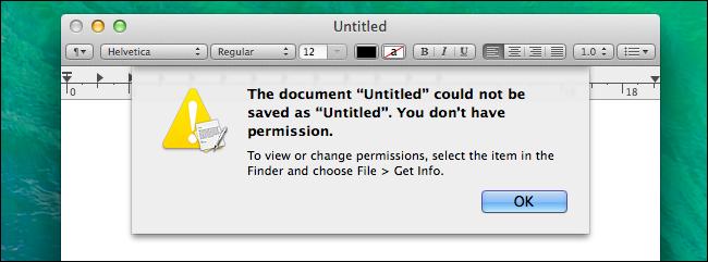 mac one possible permissions problem
