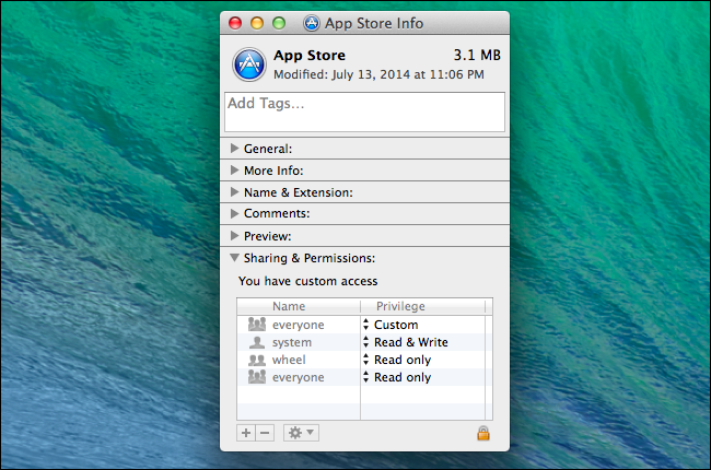 mac view permissions in finder
