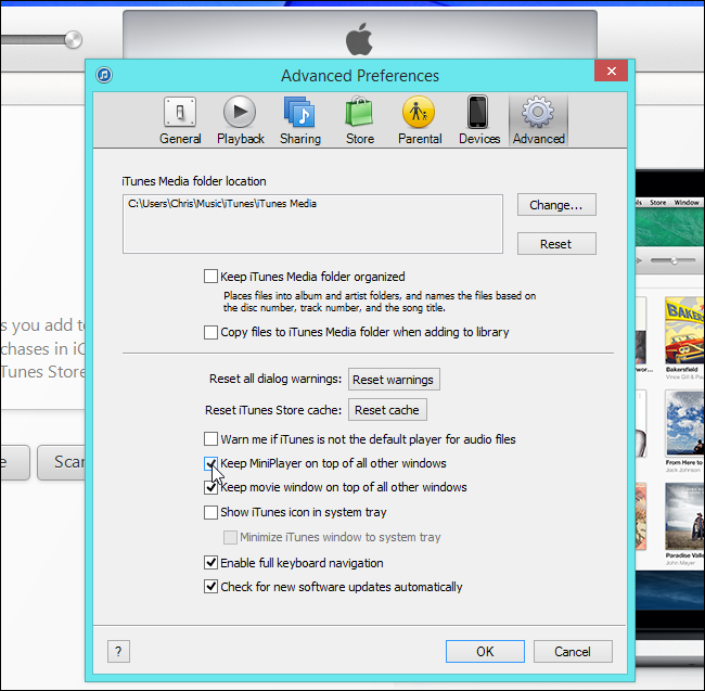 make-itunes-window-always-on-top-on-windows