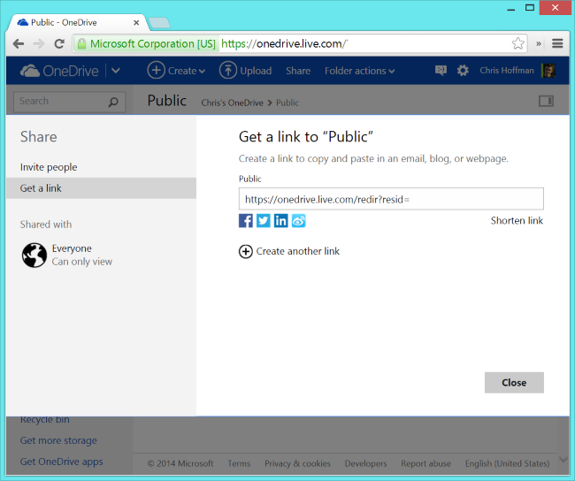 onedrive-public-folder